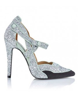 Stiletto Realness by Ana Locking Glitter Plata
