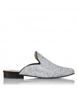 Slipper Hall Glitter Plata vista lateral