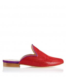 Slipper Hall Tejus Rojo vista lateral