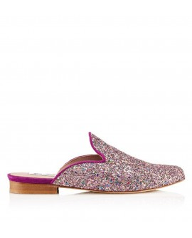 Slipper Hall Glitter Purple vista lateral