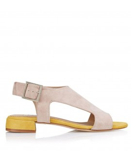 Sandalia plana Betty Neutral vista lateral