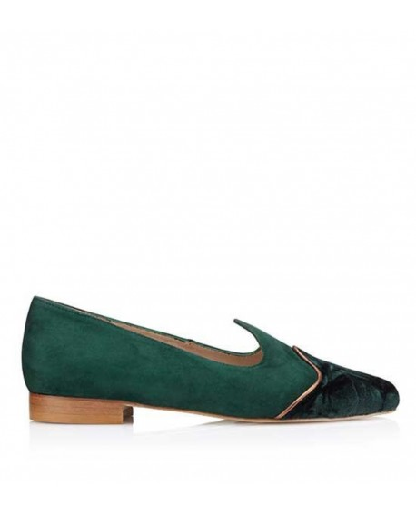 Slipper Arlette Verde vista lateral