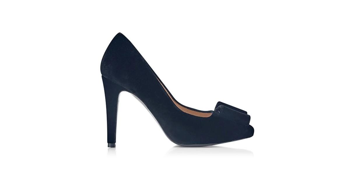 Zapato de tacón Milano Rug Black Velvet - Miss García