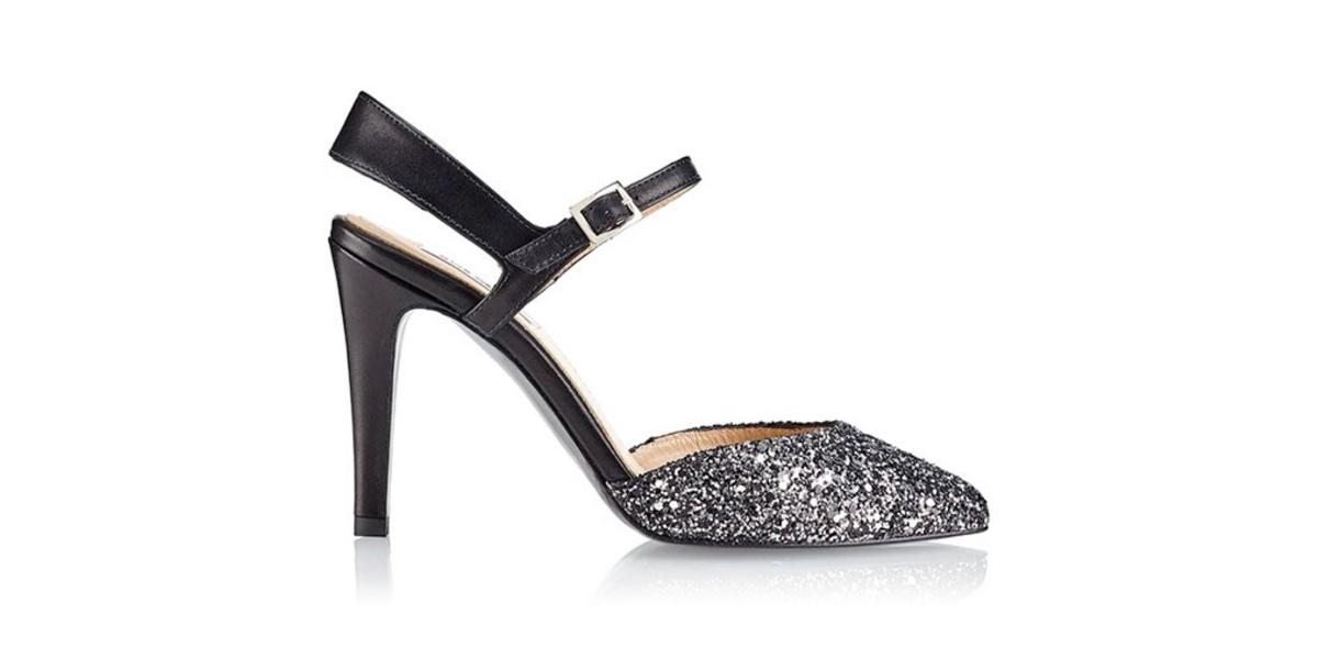 Zapato de tacón Jill Glitter Negro - Miss García