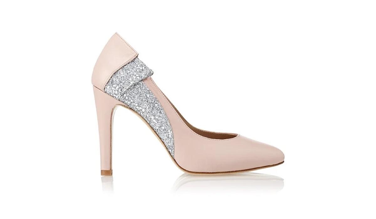 Zapato de tacón Furisode Plata Rosa - Miss García