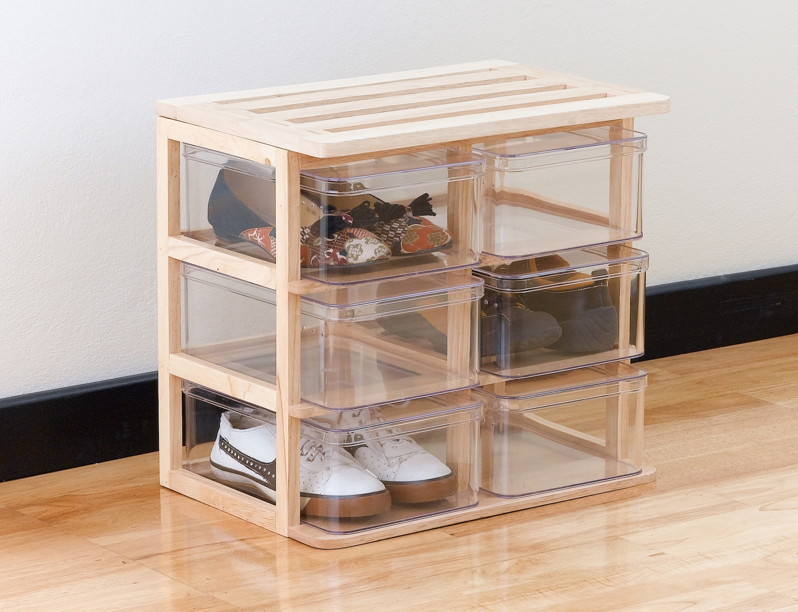 Ideas para organizar zapatos en cajas transparentes