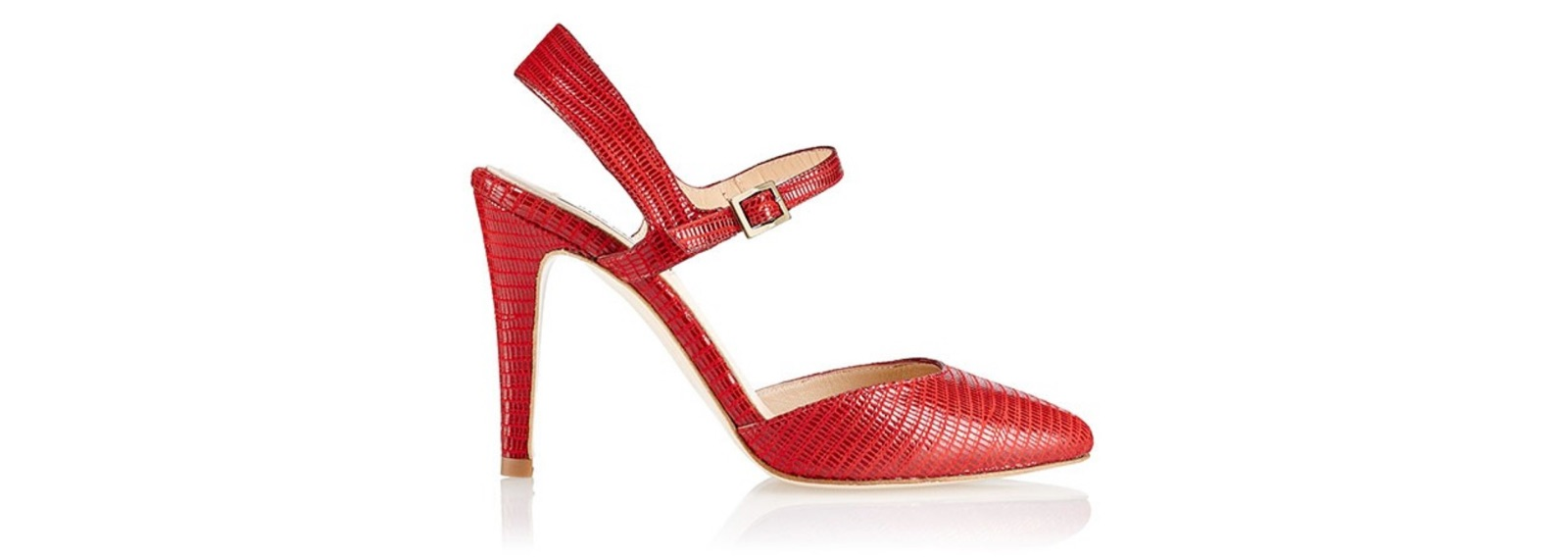 Zapato de tacón Jill Tejus Rojo - Miss García