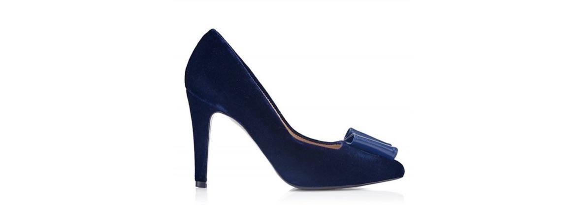 Zapato de tacón Milano Rug Blue Velvet - Miss García