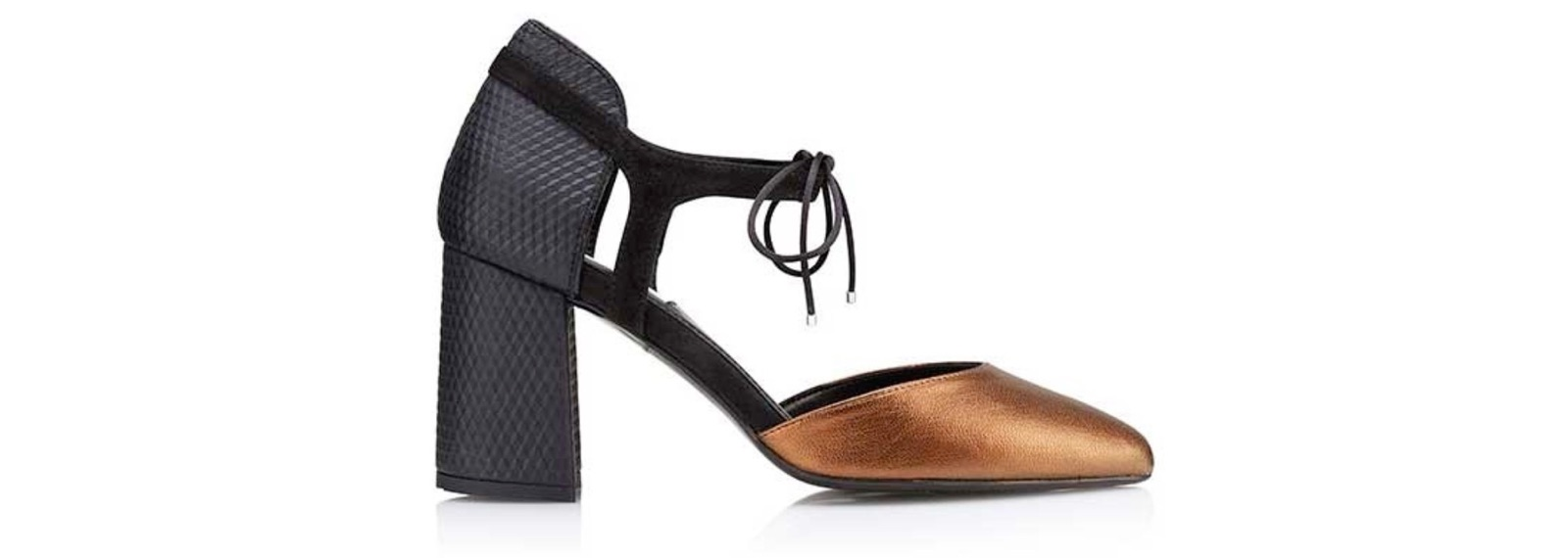 Zapato de tacón medio Rafaela Black - Miss García